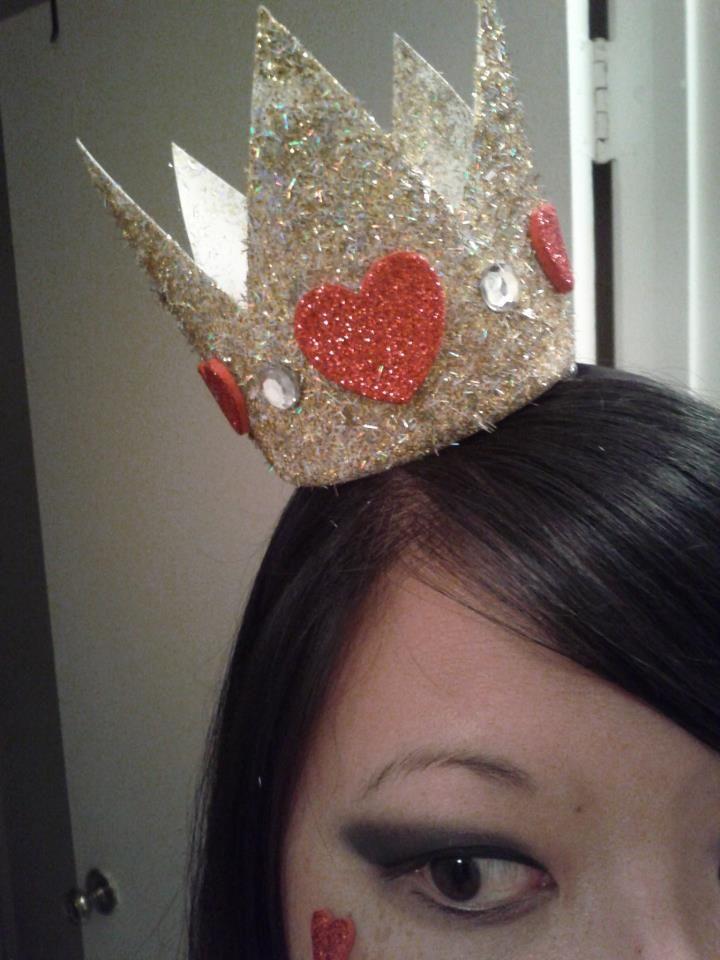 queen of hearts crown  disfraces país de las maravillas