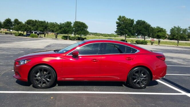 2015 Mazda 6 Touring Model. I Used PlastiDip On The Stock Wheels. I Love  This Car So Far!