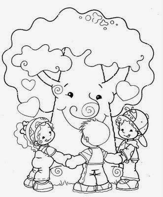 Dibujos de Arboles para Colorear, parte 1 | Día del Arbol | Pinterest