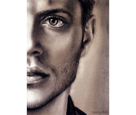 Dean Winchester  Jensen Ackles  Print  Supernatural | Etsy
