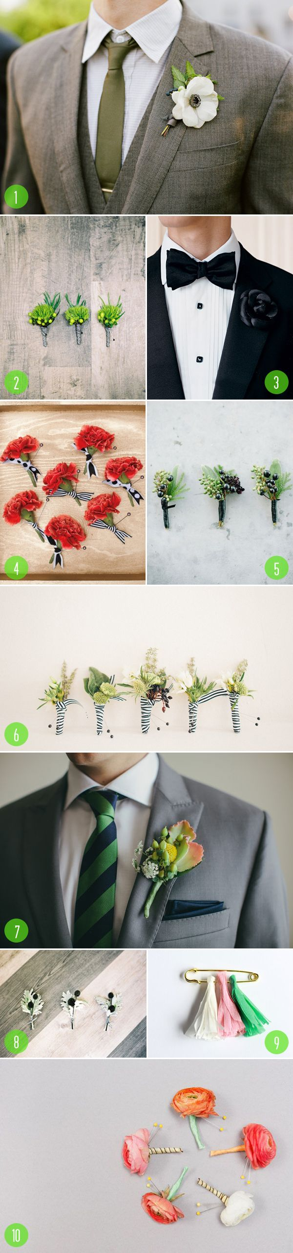 Top 10: Boutonnieres   We choose #7!