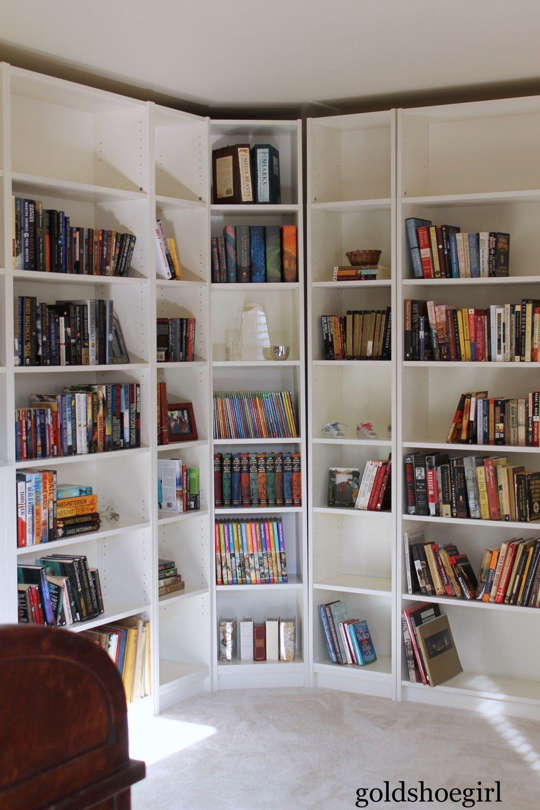 From Barely Used To Bearing Books Corner Bookshelf Ikea White Bookcase Ikea Billy Bookcase Hack