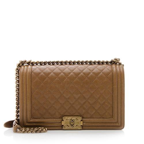 be57dca64602 Chanel Caviar Leather New Medium Boy Bag   Designer   Bags, Chanel ...