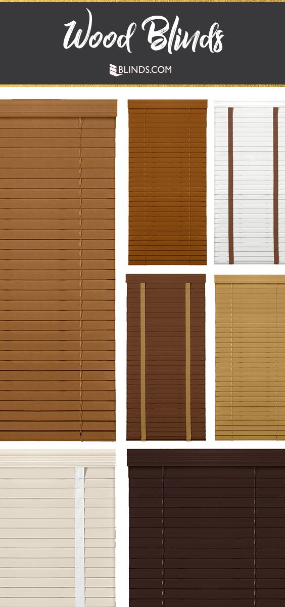 Upgrade From Builder Basics To High Quality Wood Blinds Cloth Tapes Add Visual Interest And Cover Route Holes For Bett Wood Blinds Blinds Custom Window Blinds