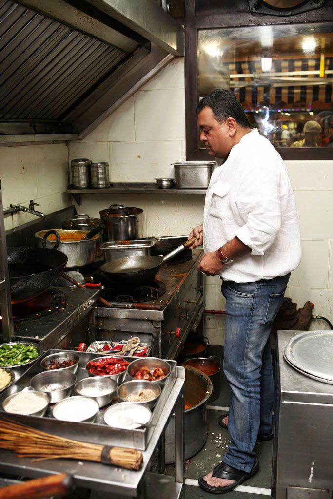 In the Kitchens of Jafferbhai Mansuri, Mumbai, Frying up the masala for Mughlai Kheema.   #Food #Book #Recipe