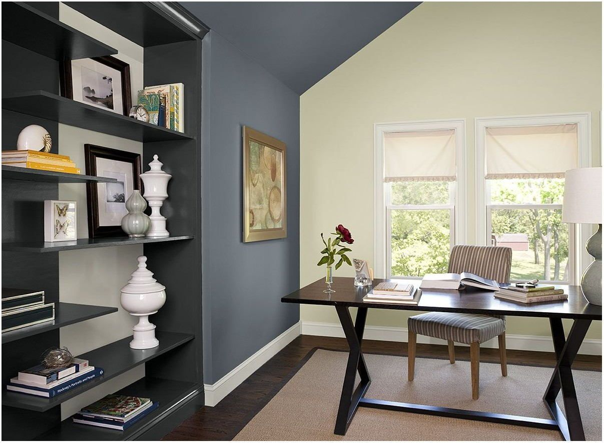 Blue Gray Wall Paint Living Room Green home offices
