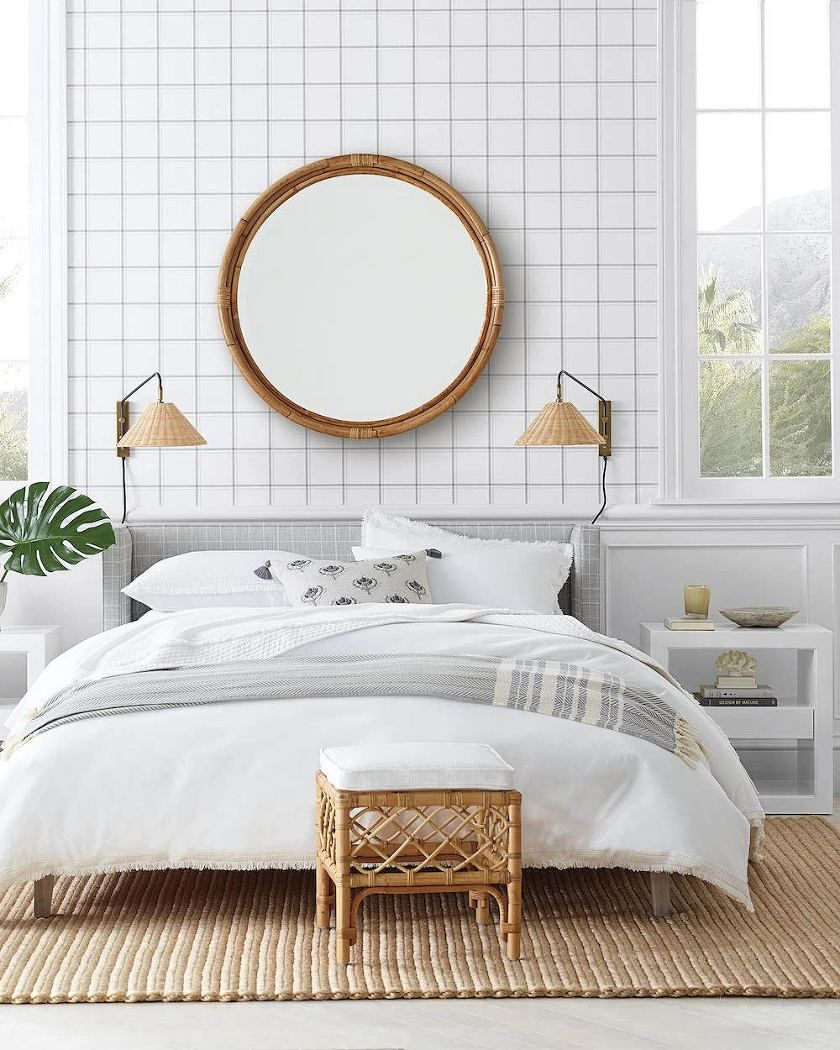 A Masculine Bedroom That She'll Love too Above bed decor