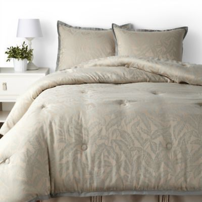 Raymond Waites Brush Creek Blue & Tan Jacquard 4-Piece Queen Comforter Set $335