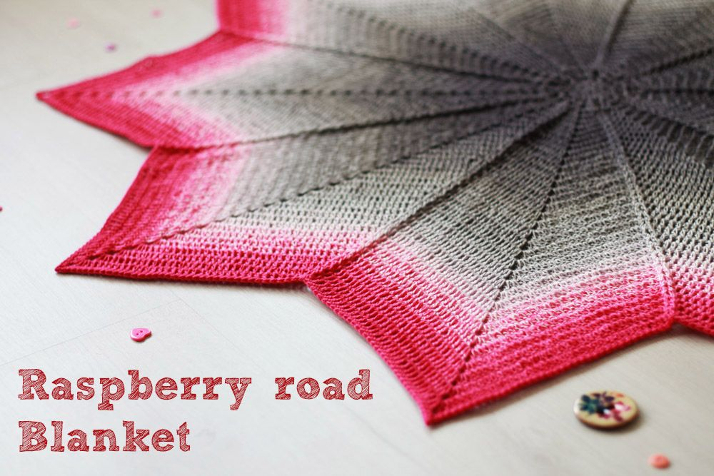 Free crochet pattern: Raspberry road blanket | Colchas