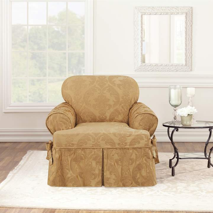 Sure Fit Matelasse Damask T Cushion Chair Slipcover In 2018