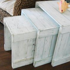 beachy nesting tables