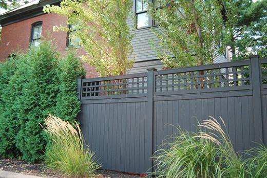Lattice Top Cedar Privacy Privacy Screen Plants Fence