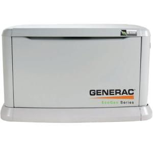 Generac 6 000 Watt Liquid Propane Fueled Automatic Air Cooled Backup Standby Generator For Off Grid Alternative Energy Systems 5818 The Home Depot Backup Generator Battery Storage Energy System