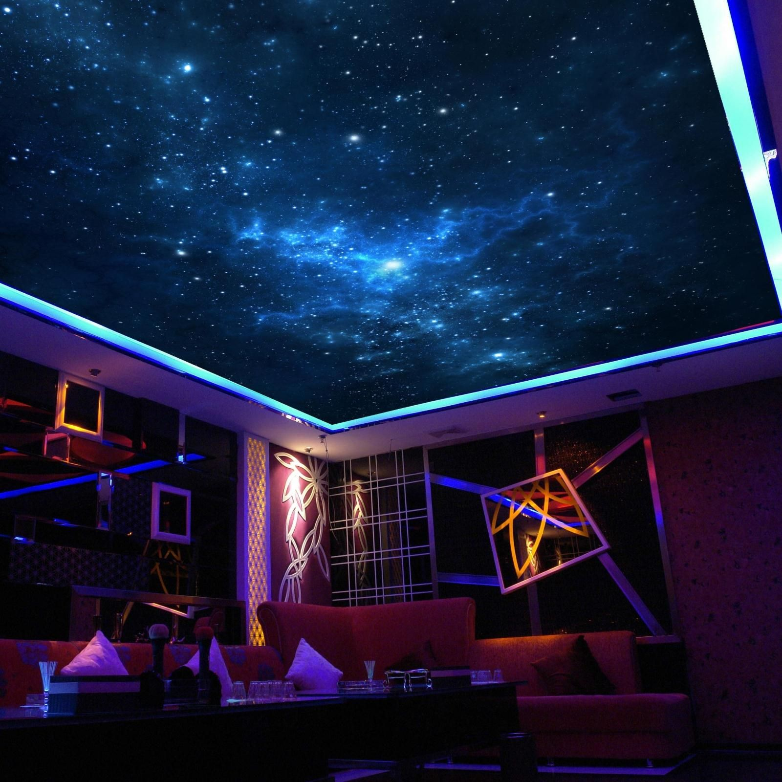 The Stars In The Night Sky Mural Wallpaper Ktv Ceiling Wallpaper Inwallpapers From Home Garden On Aliexpress Com Ceiling Murals Sky Ceiling Galaxy Bedroom