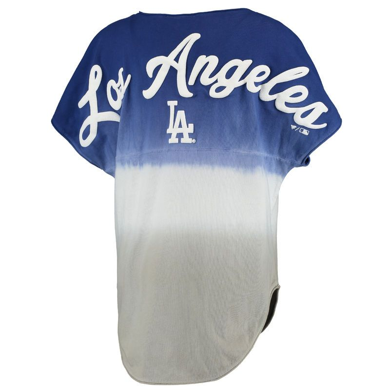 Los Angeles Dodgers Women s Oversized Sleeveless Ombre Spirit Jersey - Royal 9ee21738d32