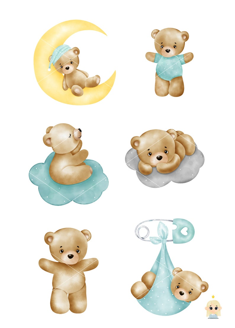 Baby Boy Watercolor Clipart Baby Shower Clipart It S A Etsy Baby Clip Art Baby Shower Clipart Baby Girl Clipart