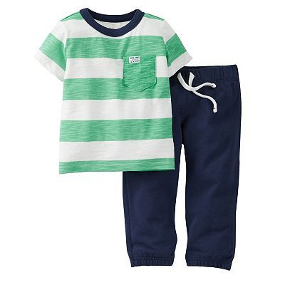 Kohls Baby Boy Clothes Carter's Striped Tee & Pants Set  Baby Boy  Cute Baby Boy Clothes