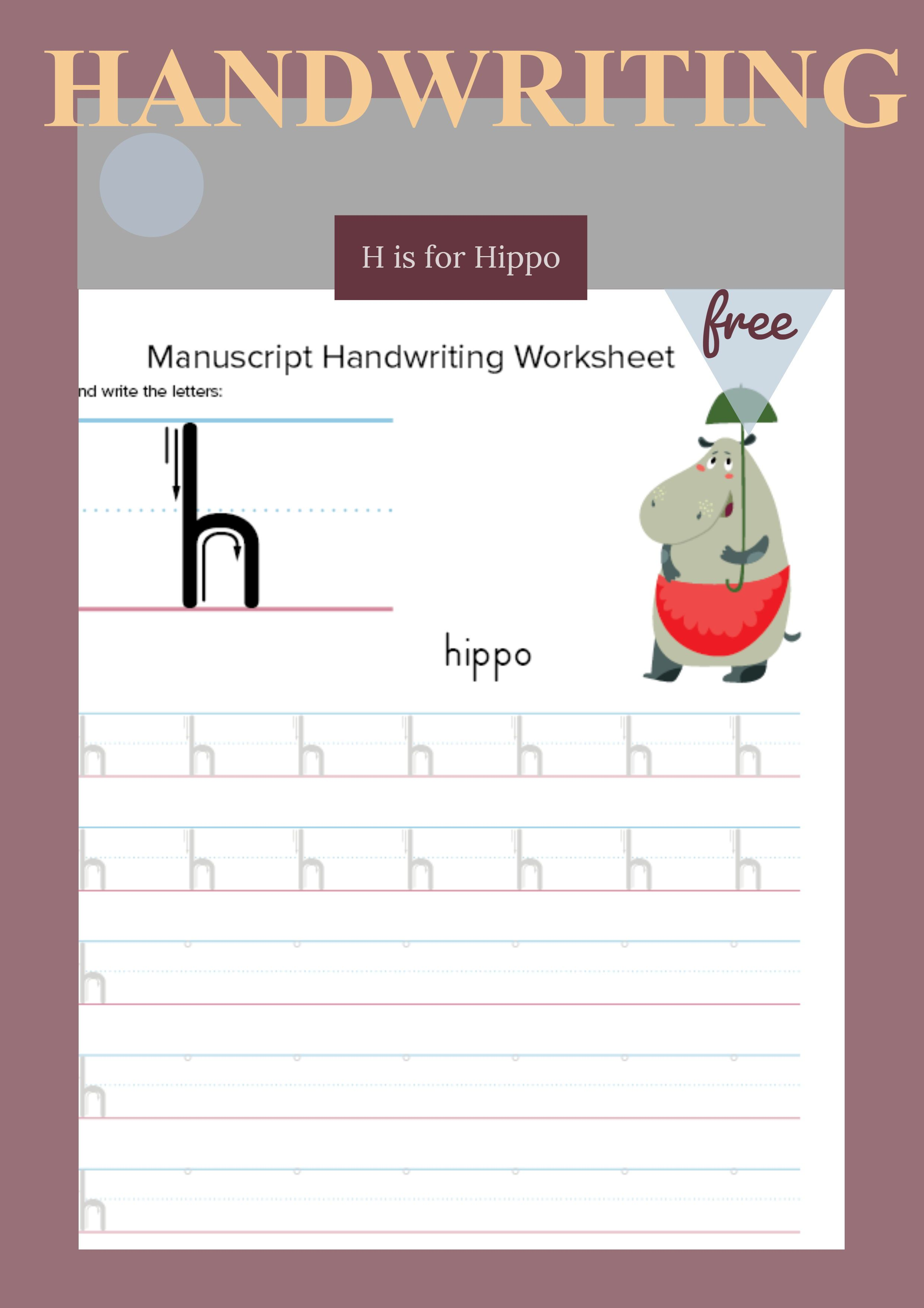 Tracing And Writing Letter H With Images