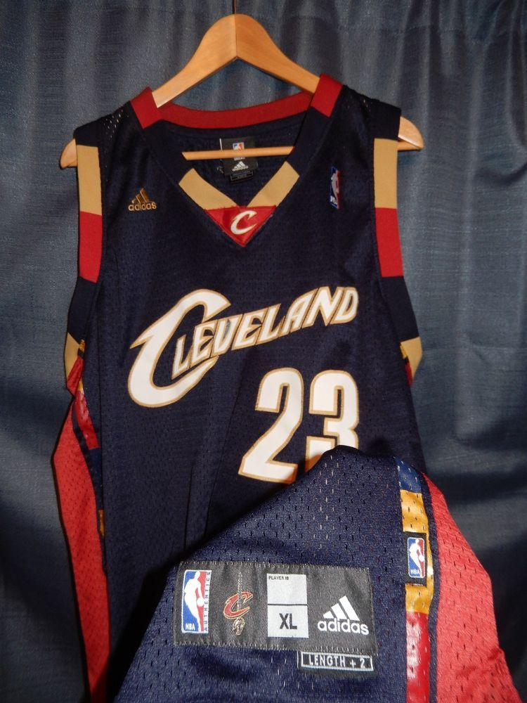 88de00dd8 NBA LEBRON JAMES CLEVELAND CAVS AUTHENTIC VTG SEWN ROOKIE BLUE JERSEY XL  ADIDAS #adidas #ClevelandCavaliers