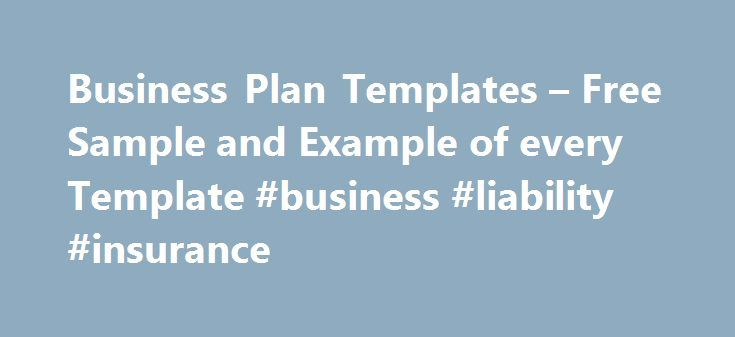 Business Plan Templates u2013 Free Sample and Example of every - free business proposal templates