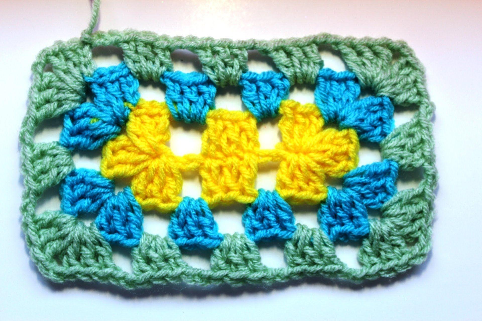 Como tejer un rectangulo en #crochet - punto Granny | gancho ...