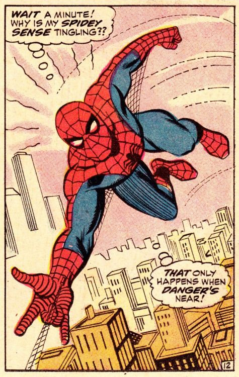 Spidey Sense in The Amazing Spider-Man #71 (May 1969)- John Romita & Jim Mooney