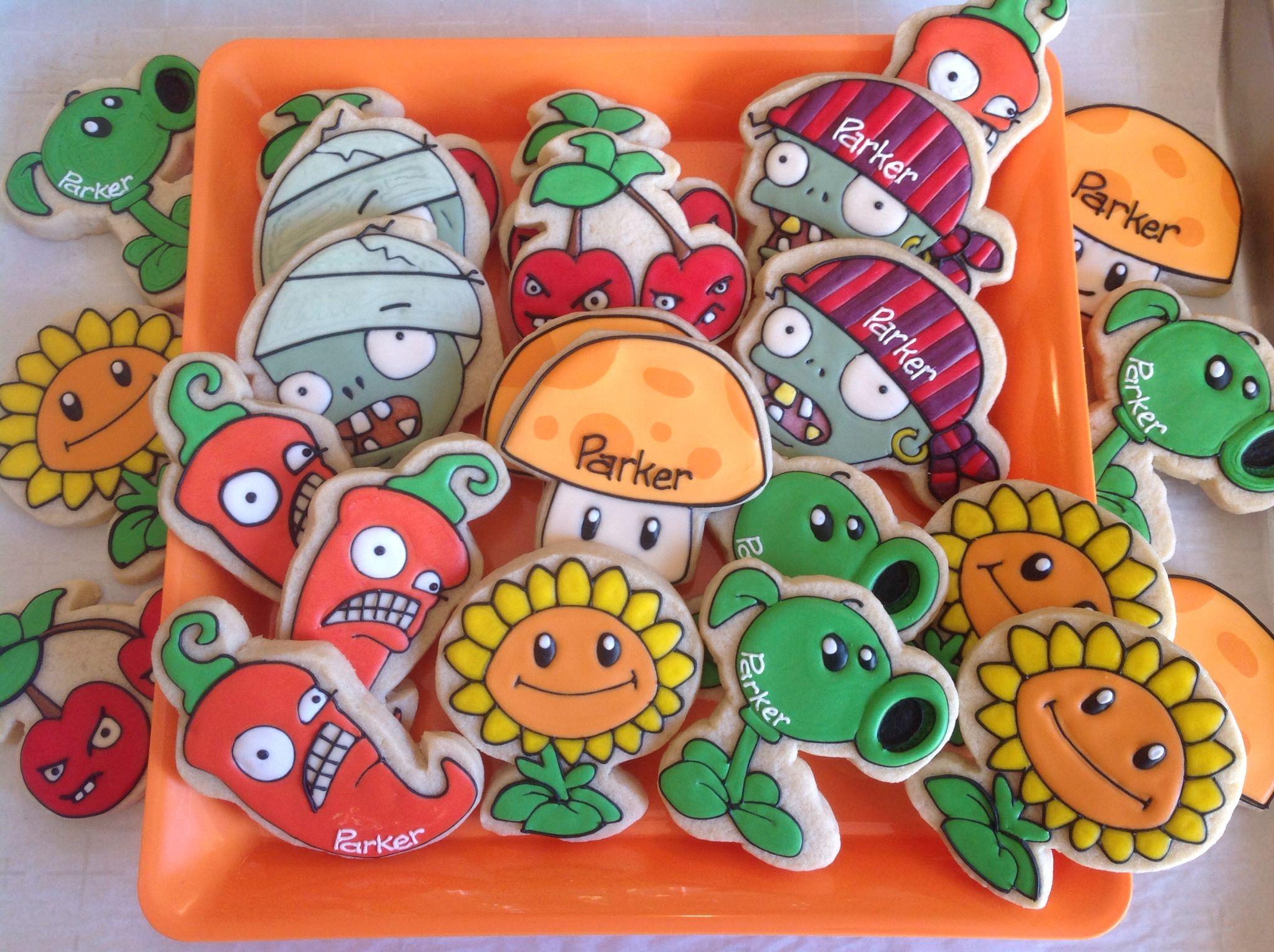 Fruit vs zombies - Plants Vs Zombies Cookies