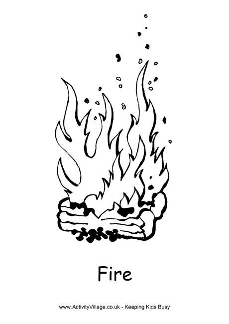 Christmas fire safety coloring pages ~ Fire colouring page | happy holidays | Coloring pages ...