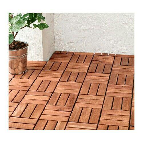 Ikea Runnen Decking Panels Quick And Temporary Flooring Solution Outdoor Flooring Building A Deck Balcony Tiles