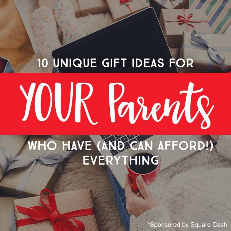 10 unique gift ideas for your parents who have and can