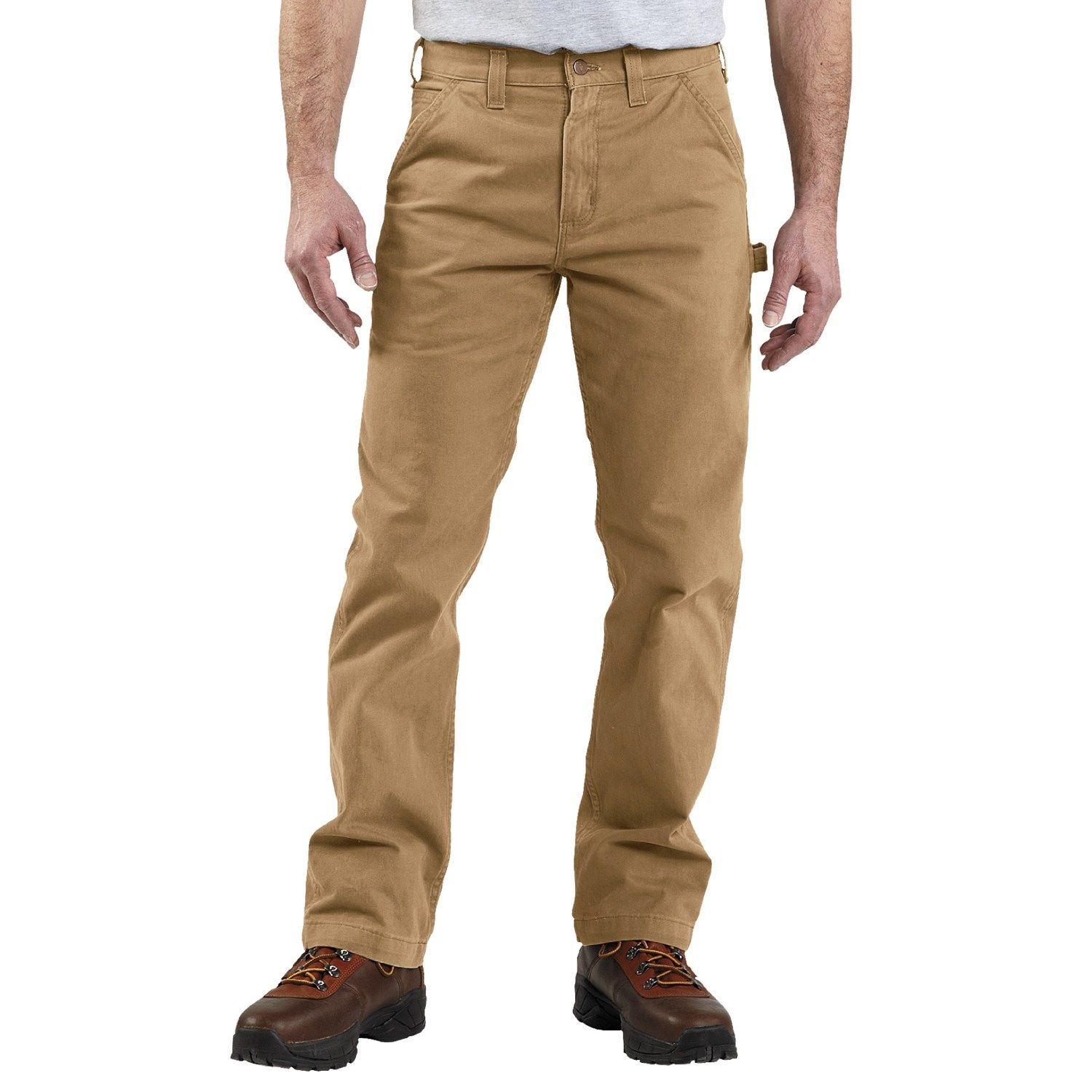 Carhartt Washed Twill Work Pants (For Men) in Dark Khaki | what i ...