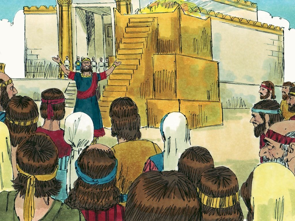 King Jehoshaphat Stood Up In The Temple Courtyard And