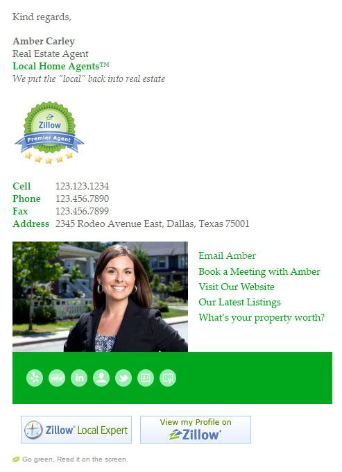 Email Signature Templates for busy realtors and real estate agents - email signature template