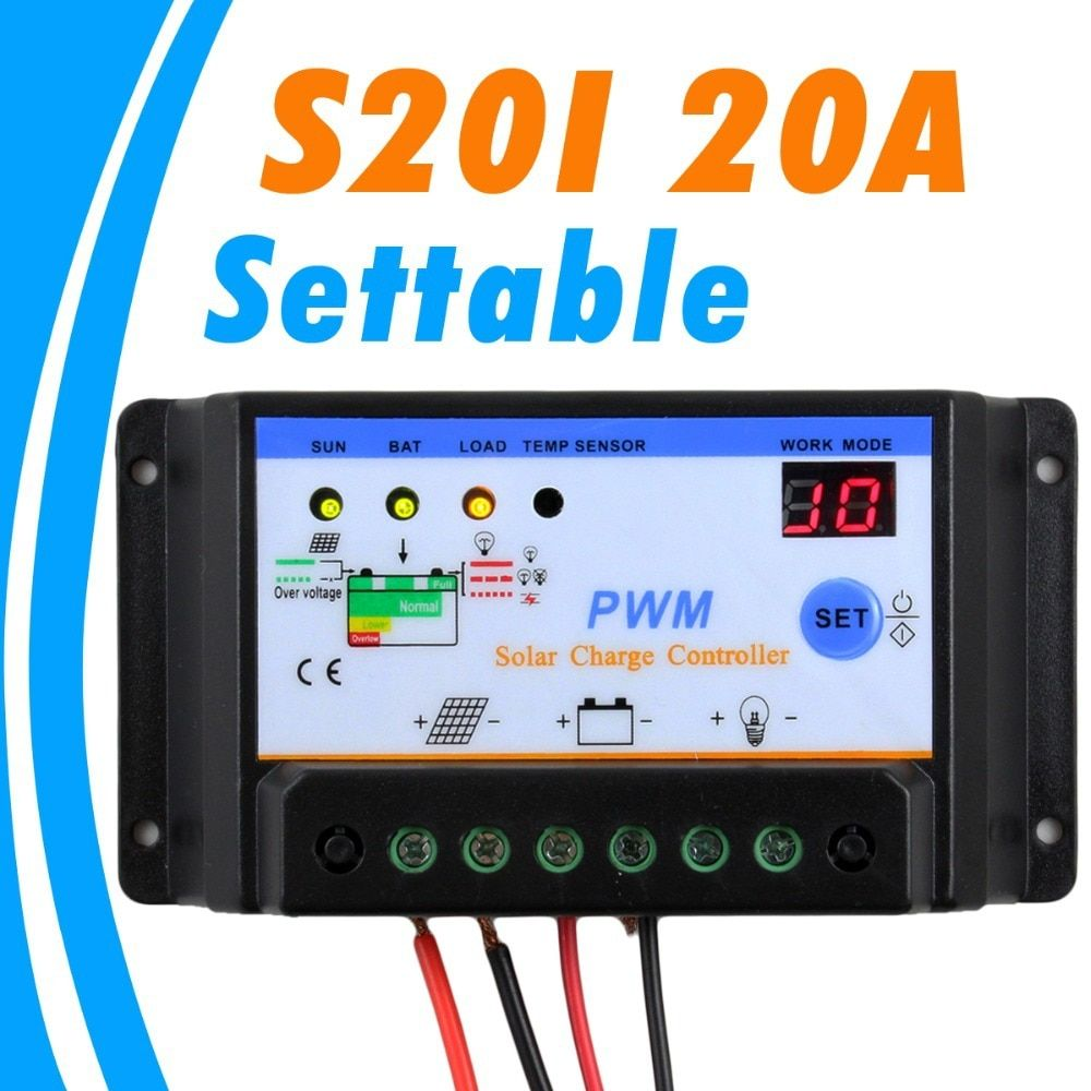 Solar Panel Discount 20a Solar Charge Controller 12v 240w S Solar Solar Panel Charger Solar Energy