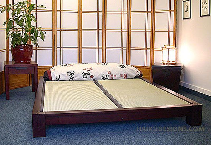 Raku Tatami Platform Bed Tatami bed, Japanese style