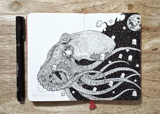Libretas De Dibujo De Un Artista Freelance: Creativa Libreta De Bocetos Con Ilustraciones De Alta