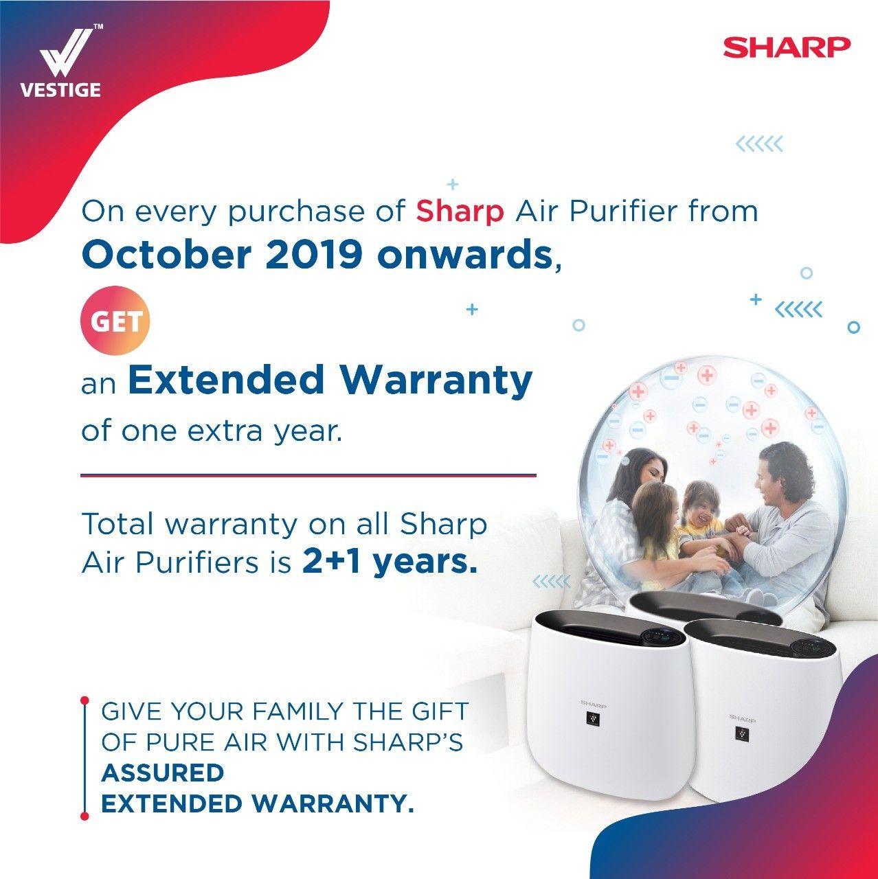 Extender Warrenty Information. Sharp air purifier, Air