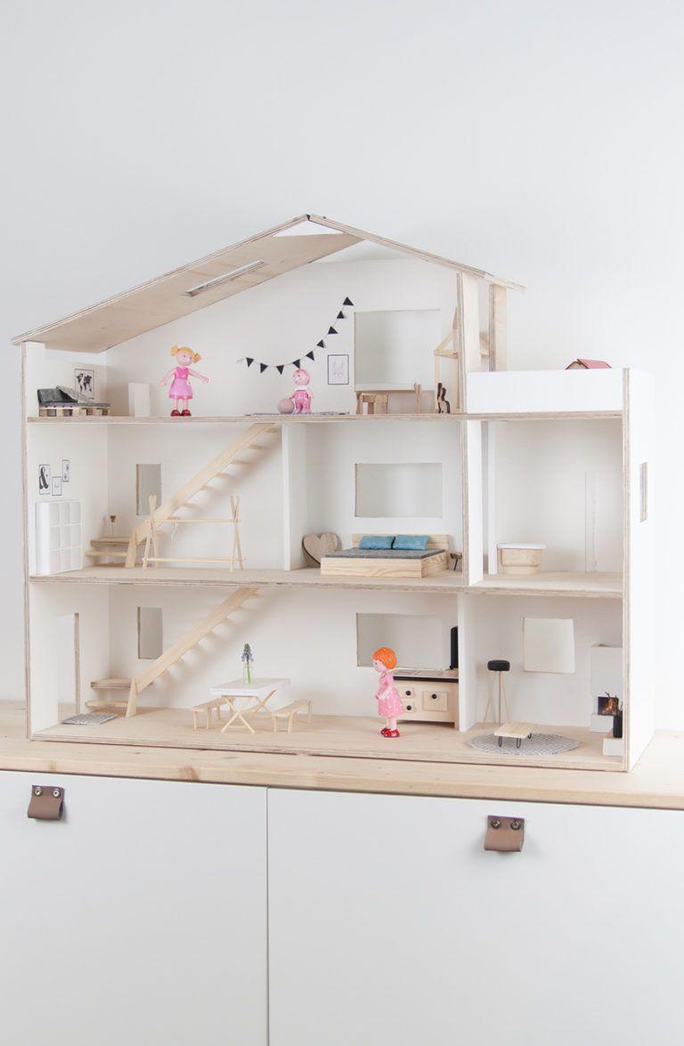 Photo of Selbstgebautes Puppenhaus im Skandi-Look mit Anleitung