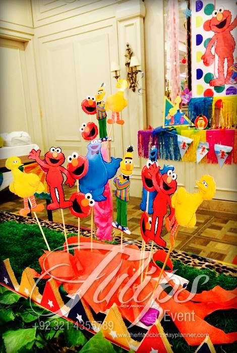 sesame street Themed Birthday Party Planner in Lahore Pakistan