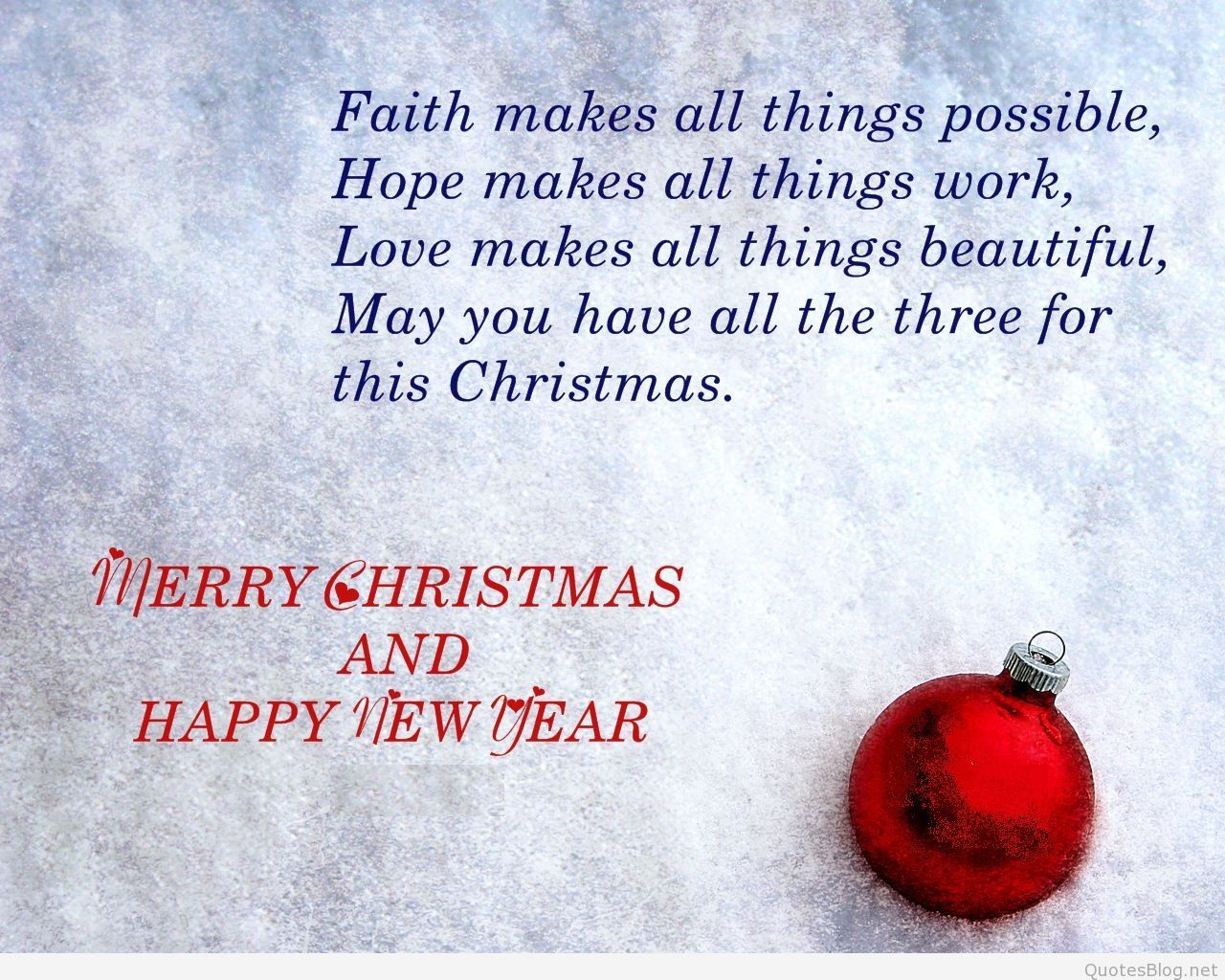 merry christmas and happy new year quotes Christmas