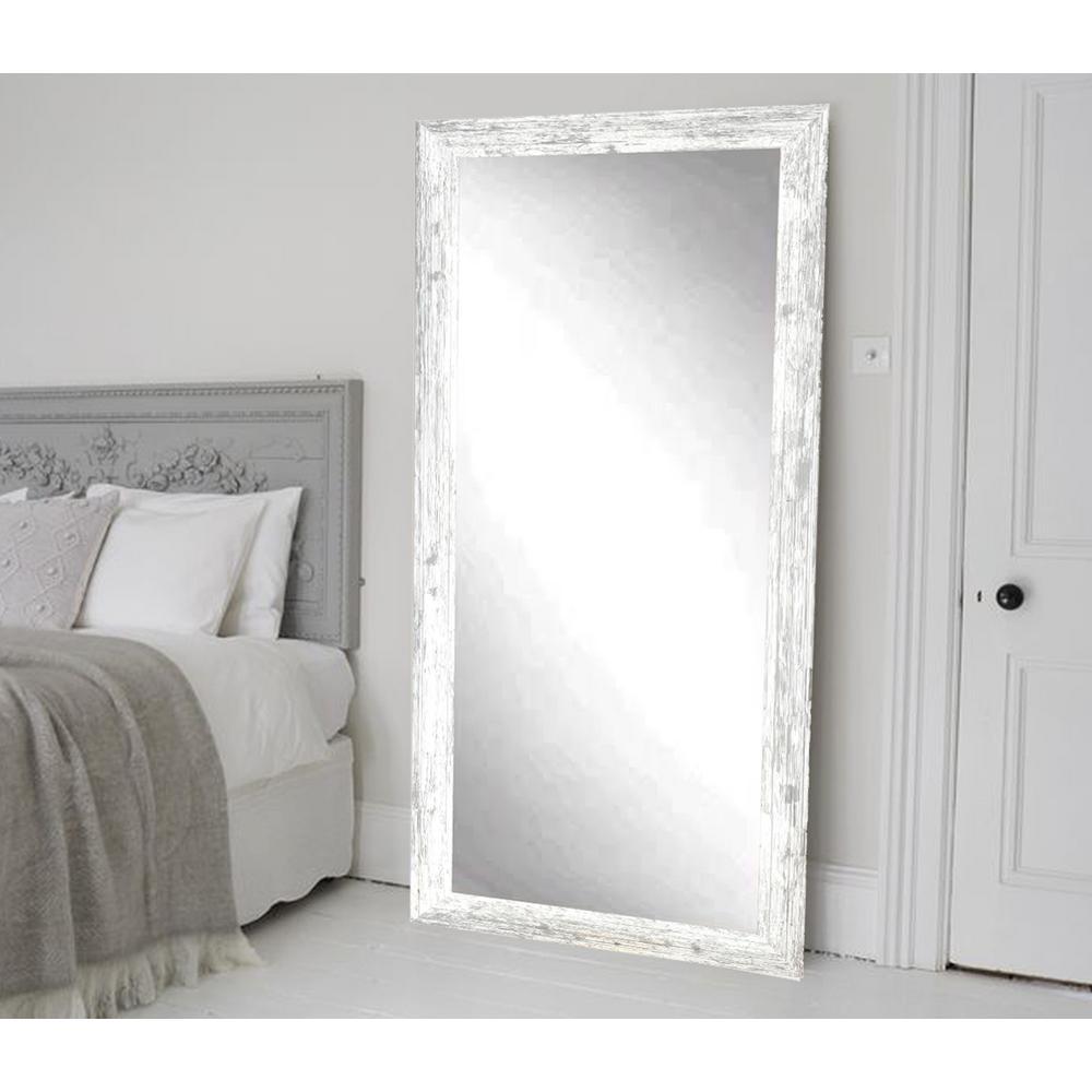 Brandtworks Distressed White Barnwood Full Length Floor Wall Mirror Bm032t Living Room White Grey Flooring Bedroom Flooring