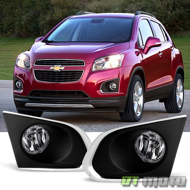 2015 2016 Chevy Trax Bumper Driving Fog Lights Lamps Switch Bulbs