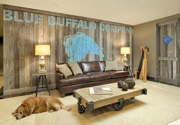 Schöne Wandgestaltung Ideen - Wand Bekleidung aus Holz selber - einrichtung im industriellen wohnstil ideen loftartiges ambiente