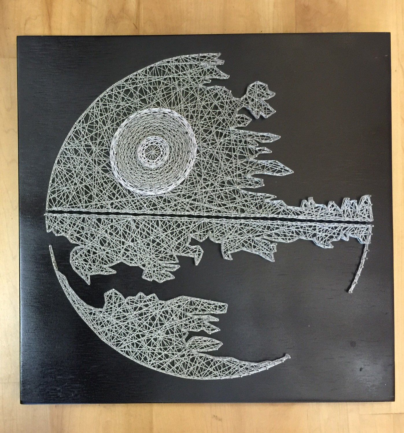 Star Wars Death Star String Art | String art, Death star and Death
