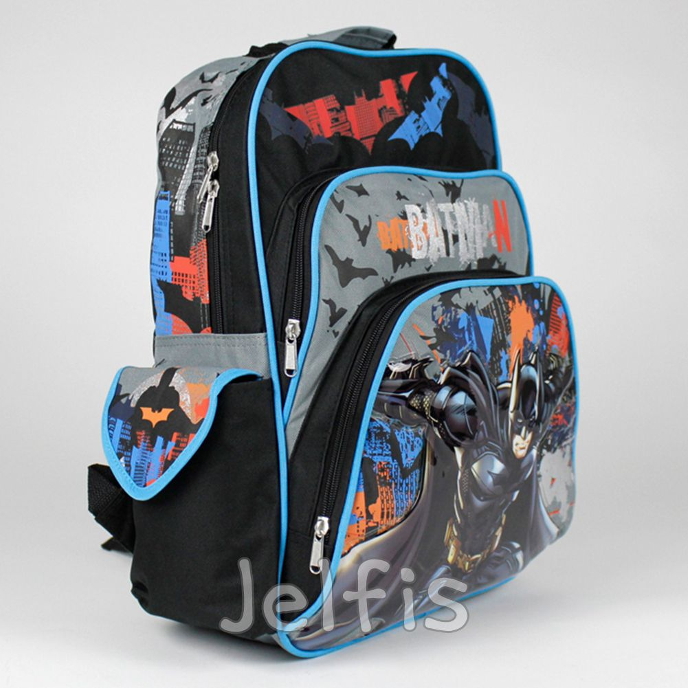 f9ee122dafc6 16  Large Dc Comics Batman Backpack - Orange Bats Bruce Boys School Book Bag   17