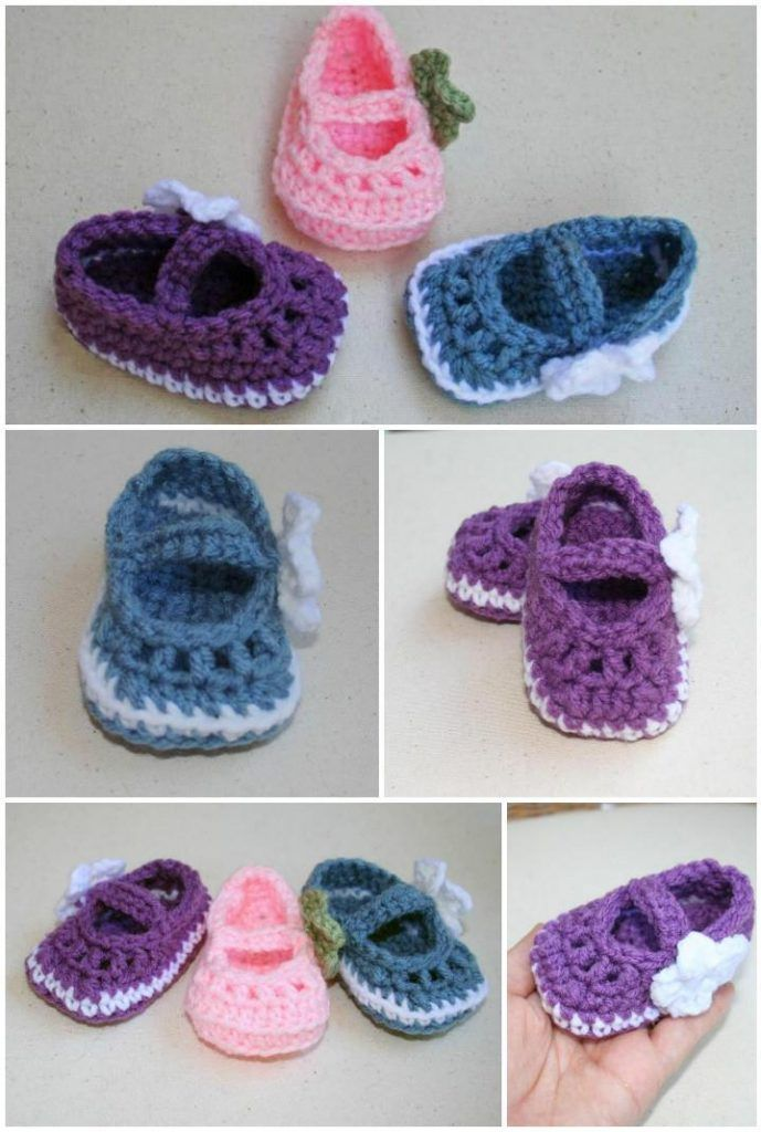 Crochet Baby Booties - Top 40 Free Crochet Patterns | Creatividad ...