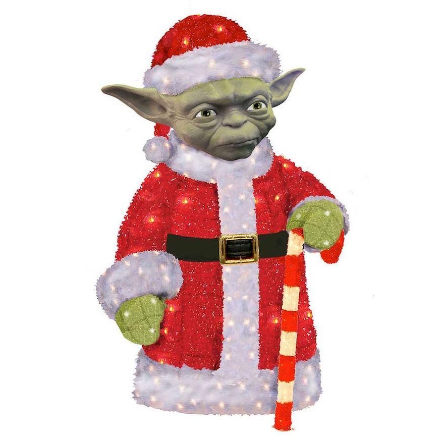 Christmas For sale online Kurt Adler Star Wars Santa Yoda Pre-Lit