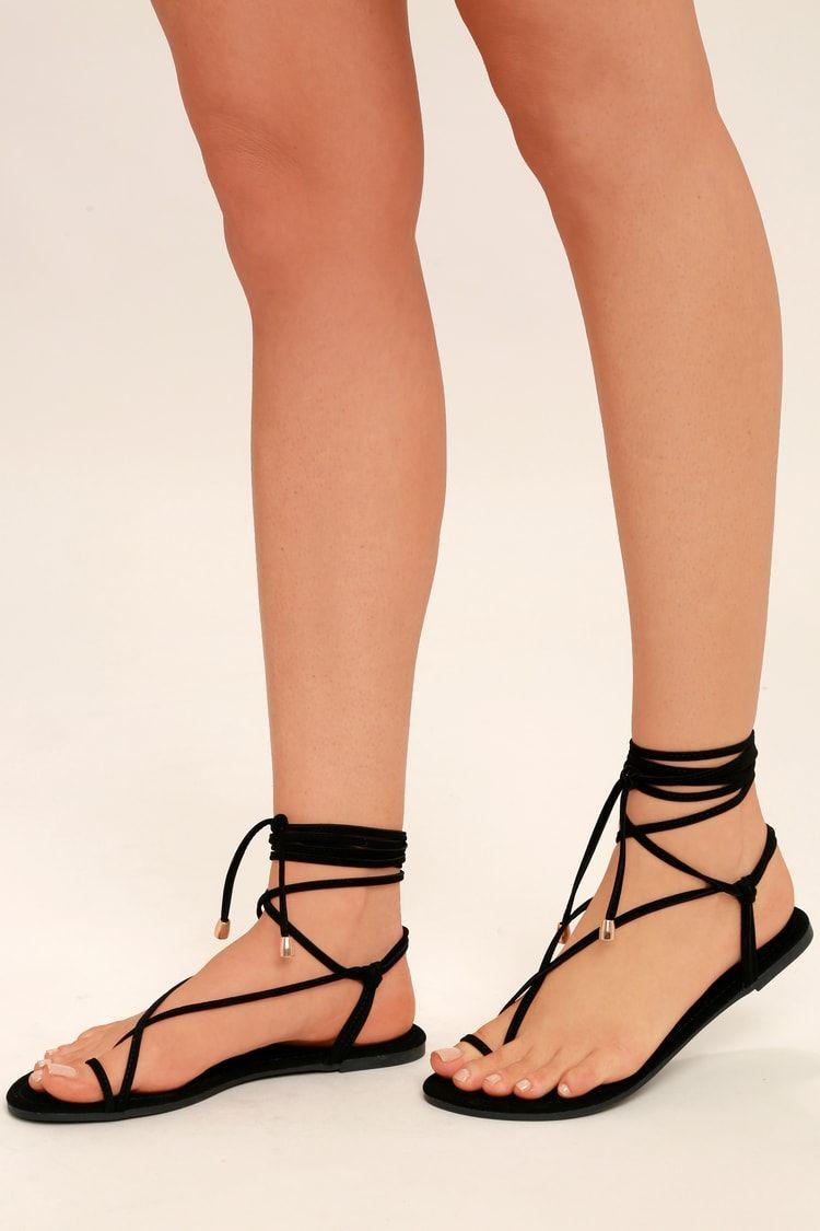Micah Black Lace Up Flat Sandals In 2021 Black Lace Up Flats Lace Up Flat Lace Up [ 1125 x 750 Pixel ]