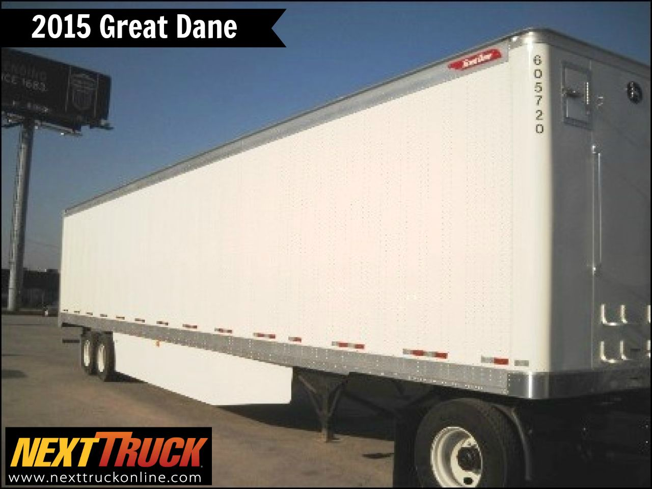 "Our featured trailer is a 2015 GreatDane 53' x 102"" Dry"