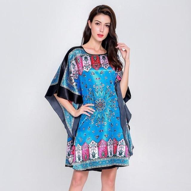 f8df70e248008 Plus Size Black Women's Summer Lounge Robe Lady New Sexy Home Dress ...